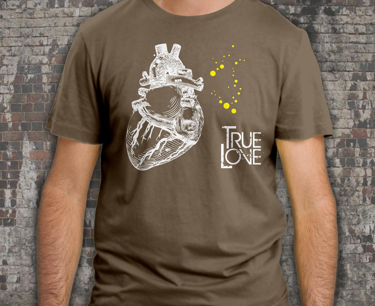 68b1b1913d Póló nyomtatás True love mintával   Kiwipress